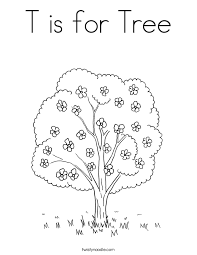 Small Picture T is for Tree Coloring Page Twisty Noodle