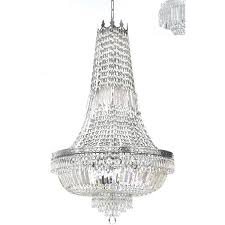 french empire crystal silver chandelier lighting vintage