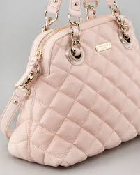 kate spade new york gold coast georgina satchel in pink | Wear ... & kate spade pink handbag~love the quilt! Adamdwight.com