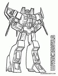 Small Picture Transformers Coloring Pages Starscream Fantasy Coloring Page