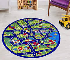 kids car road rugs city map play mat