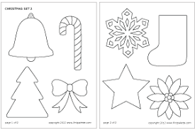 Small Picture Christmas Set Printable Templates Coloring Pages