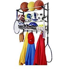 Sports Coat Rack Adorable Amazon Sports Theme Coat Rack And Sport Equipment Storage Rack