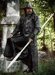 costume black leather jacket