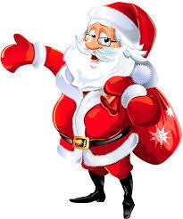 Santa Claus Hello Transparent Png Stickpng