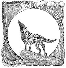 Animal Coloring Pages For Adults Wolf Coloringstar
