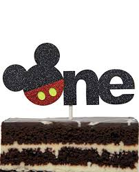 Amazoncom Mickey Mouse Inspired One Year Cake Topper Boys Smash