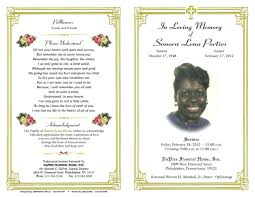 006 Free Funeral Service Program Template Download Unusual