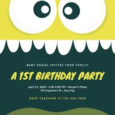 1st Birthday Party Invitation Template Customize 838 1st Birthday Invitations Templates Online Canva