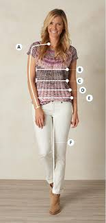 Womens Prana Clothing Size Chart