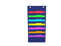 wall mounted office organizer system. Hanging File Folder Holder Cascading Fabric Organizer 7 Pocket Home School Office Classroom Filing Storage Wall Mounted System O