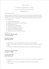 Sales Associate Resume Real Estate Sales Associate Resume Templates At