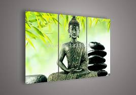 wall art religion buddha green oil painting on canvas pictures decor no frames by meizi456 dhgate com