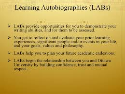 the learning autobiography 2 learning autobiographies