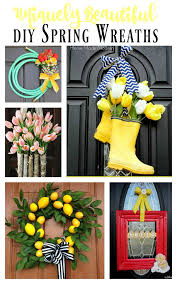 this is an amazing collection of unique and gorgeous diy spring wreaths