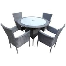 cambridge 4 rattan garden chairs and small round table set various colours