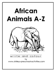 Small Picture Free African Animals Alphabet Coloring Pages