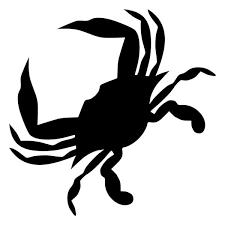 designer stencils contemporary crab