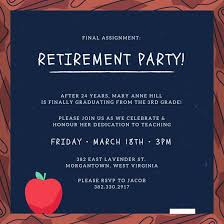 Retirement Celebration Invitation Template Blackboard Retirement Party Invitation Templates By Canva