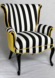 black and white striped furniture. sold black and white striped vintage round wing back chair with yellow velvet stripe mid furniture s
