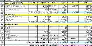 Construction Cost Estimation Excel Project Estimation Excel Template ...