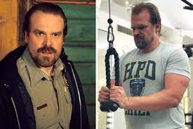 star David Harbour totally ripped