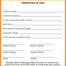 Sample Of Bill Of Sale For Car Florida Auto Bill Of Sale Auto Bill Sale Template Car Sales Receipt