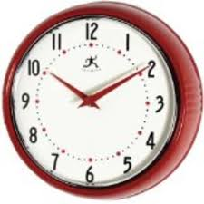 Red Retro Kitchen Accessories Best Red Kitchen Wall Clocks Retro Electric Small And Large