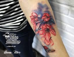 тату цветы тату цветы на руке цветная тату цветы