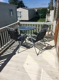 a balcony or terrace at heacham sunset lodge