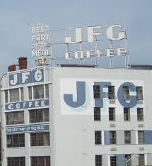 The jfg coffee neon sign overlooks the old city area of knoxville, tn. Jfg Special Coffee Knoxville Tn Featured Artist Vance Bass Fading Ad Blog
