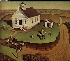 oil painting museum the day of planting grant wood