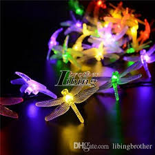 outdoor fairy lighting. Solar String Fairy Lights Outdoor 20 Led Multicolor Dragonfly Shape Garden Patio Decor Dream Energy Saving Lighting Exterior