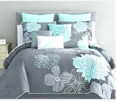 mint colored bedding turquoise and gray