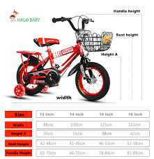 Bike Wheel Size Chart Age Children Mountain Bike Baby Tricycle Ride On