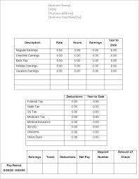 Pay Stub Samples Templates Check Stubs Check Stub Template Blank Paycheck Stub Template A Part
