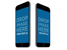 iphone 6 png no background. two black iphone 6 plus over a transparent background mockup a12292b iphone png no c