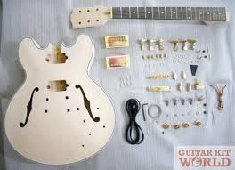 guitar kits for building electric bass guitars guitar kit world es hollow body guitar kit
