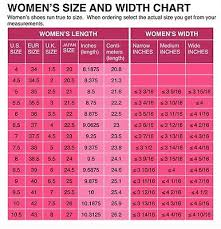 Womens Shoe Size Conversion Chart Us Uk Eu Japanese