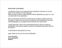 thank you letter after job interview 15 free documents inside thank you letter after a job interview
