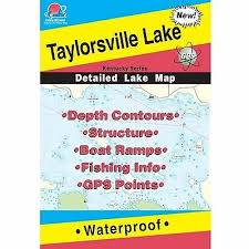Fishing Hotspots L442 Kentucky Lake Maps Cave Run Lake Ebay