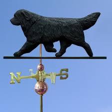 newfoundland hand carved hand painted bwood dog weathervane black