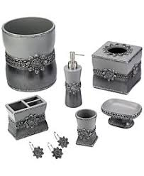 black and white bathroom accessories. Exellent Black Avanti Braided Medallion Granite Bath Accessories Throughout Black And White Bathroom