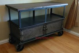 industrial furniture wheels. Entertainment Center On Wheels Magnificent TV Stands Vintage Industrial Furniture Home Interior 8