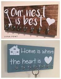 personalised wooden wall key holder