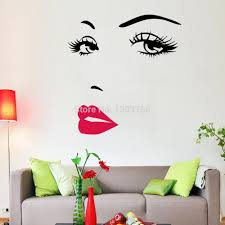 Audrey Hepburn Wall Decor Diy Beautiful Face Eyes And Lips Wall Art Sticker 8469 Painting