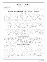 Business Intelligence Data Warehousing Sample Resume Resume