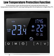 Lazmin Thermostat, <b>MH1822 Electric</b> Heating Thermostat: Amazon ...