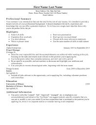 Resume Layout For First Job