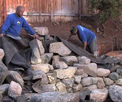 how to build a pool waterfall diy